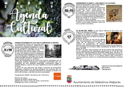 Agenda Cultural Marzo