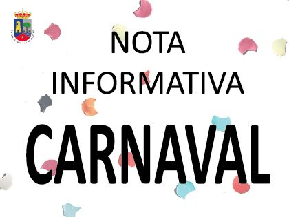 Nota Informativa CARNAVAL