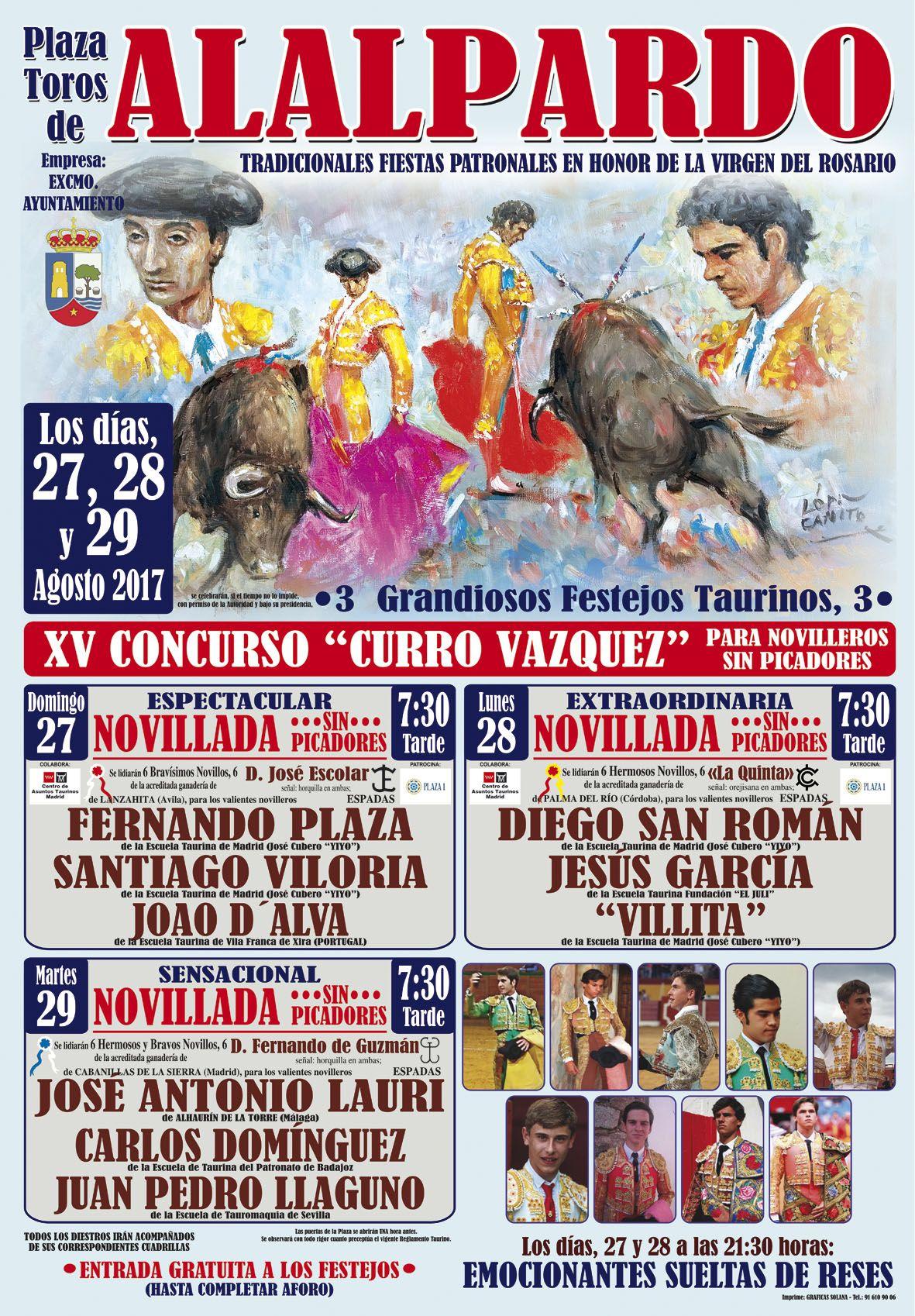 Cartel Toros ALALPARDO 2017