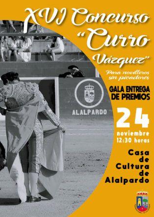 Cartel Gala Triunfadores XVI Concurso Curro Vázquez
