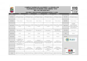 Horario I Campus Taurino de Alalpardo-001