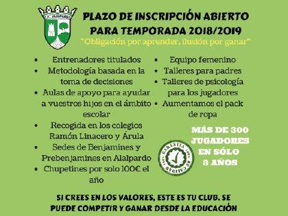 Inscripciones C.F: Alalpardo Temporada 2018-201