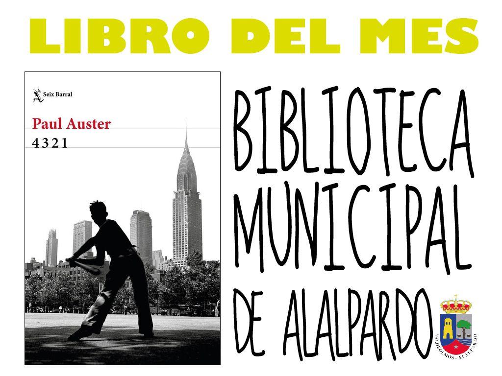 Libro del Mes Biblioteca Municipal de Alalpardo OCTUBRE 2017