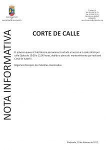 Nota Informativa CORTE CALLE-001