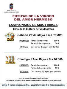 Torneos Mus y Brisca 2017