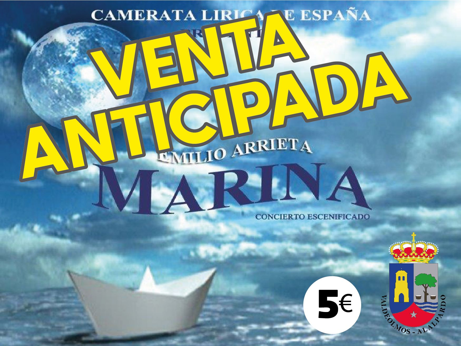 Venta Anticipada ópera MARINA