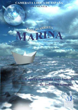 Cartel Marina Concierto Escenificado