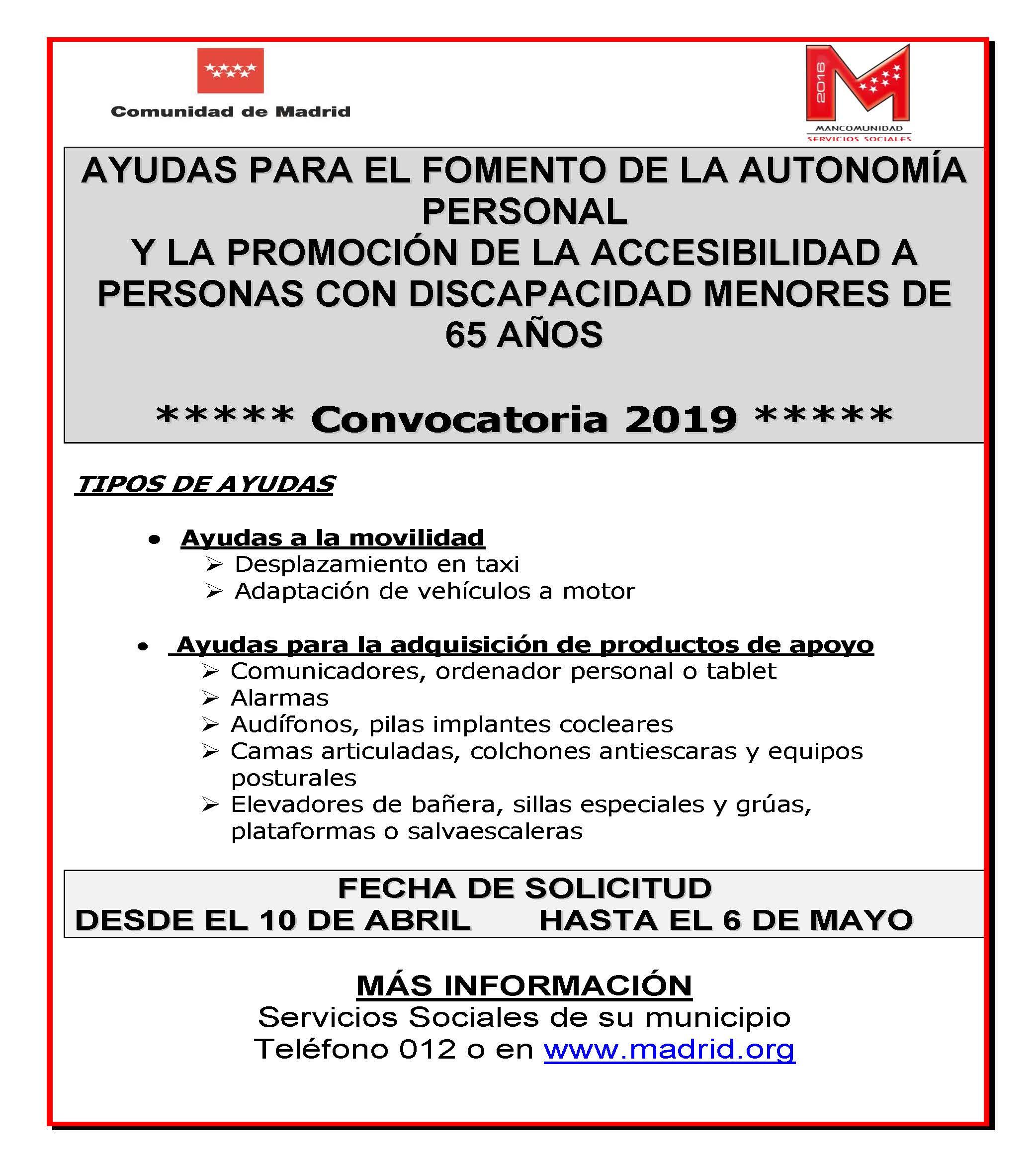 Cartel autonomía personal 2019