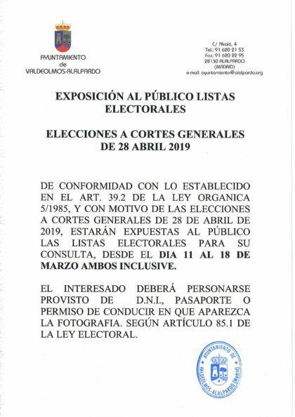 LISTAS ELECTORALES
