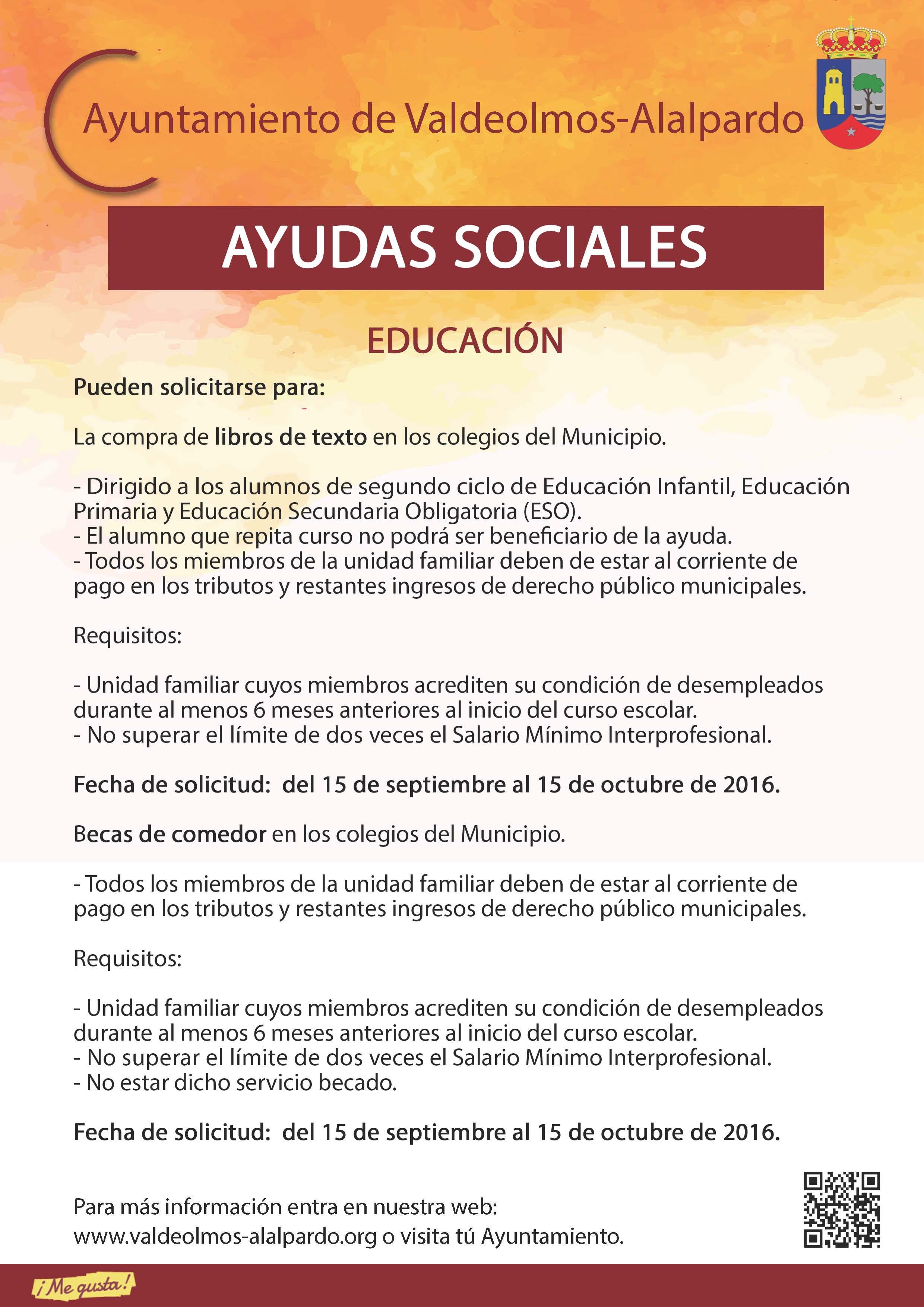 Plantilla AYUDAS SOCIALES EDUCACIÓN