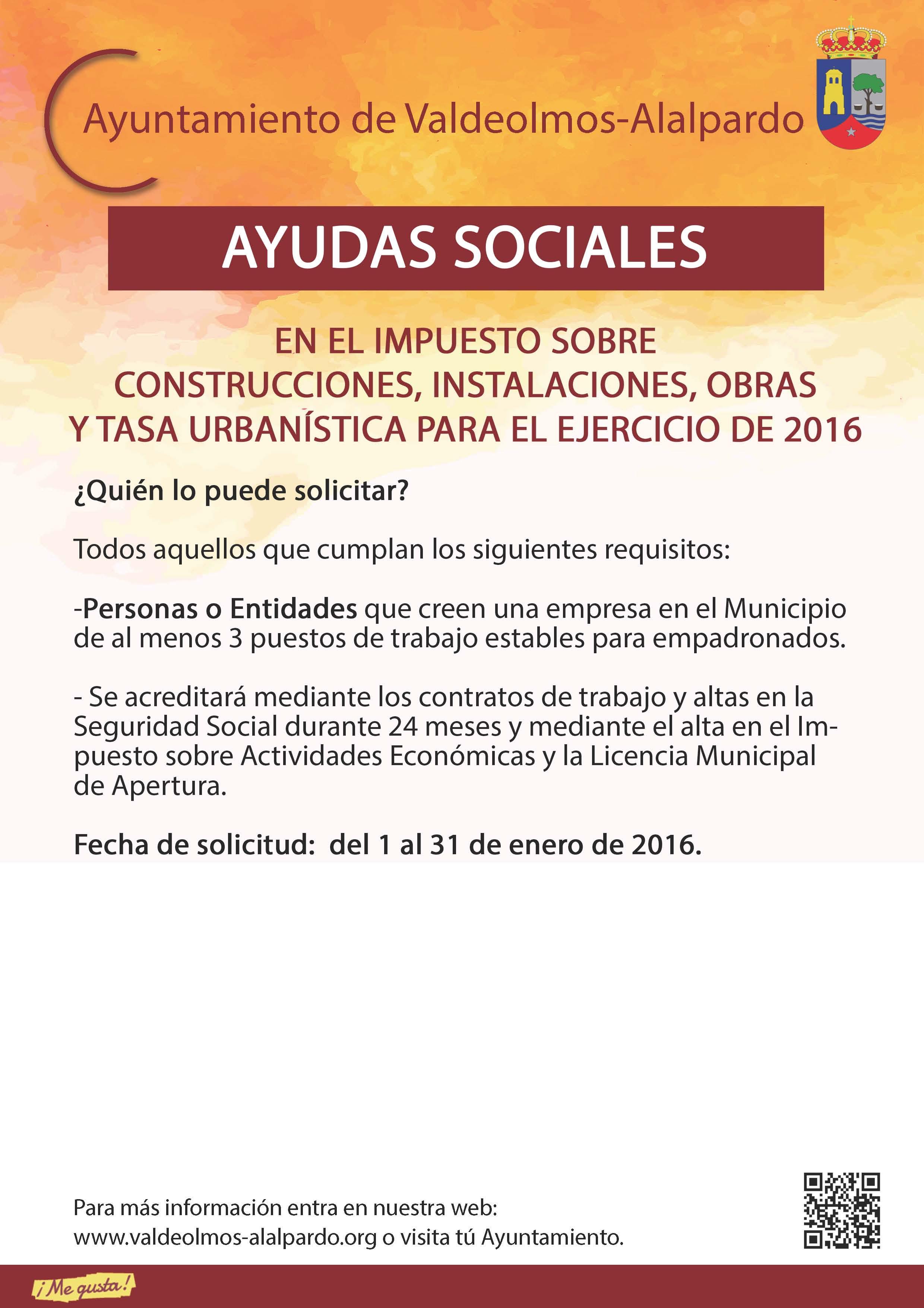 Plantilla AYUDAS SOCIALES IMPUESTOS CONSTRUCCIONES ETC